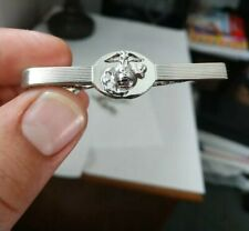 Mens vintage Marines new old stock Marines Silver Tie Clip silver plated