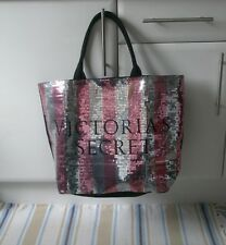 VICTORIA'S SECRET LARGE SHOPPER / TOTE BAG SEQUINNED NEW