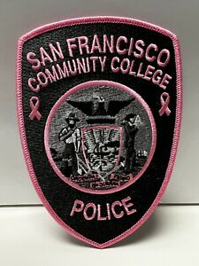 San Francisco Community College Police California Pink Patch
