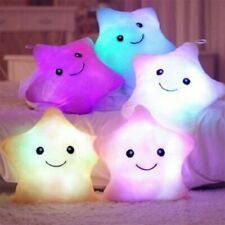 Five-pointed Star Luminous Pillow Cute Colorful  Soft Plush Glowing Children Toy