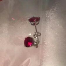2.0 CTTW. Genuine Ruby Stud Earrings