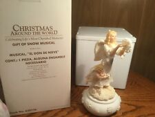 """Christmas Around the World """"Gift of Snow Musical"""" Angel Decoration-1999"""