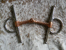"""Equisteel Brand Stainless Steel Copper 5"""" Grooved Mouth Horse Bit New Tack"""