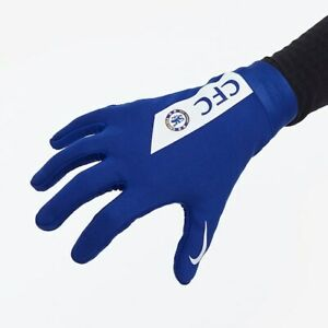NIKE FC CHELSEA ACADEMY HYPERWARM GLOVES BLUE WHITE SIZES