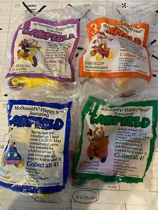 (4) 1988 Garfield McDonald's Toy *** COMPLETE SET ***
