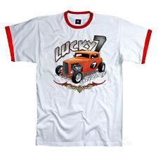 Rockabilly T-Shirt classic  Vintage Kustom  HotRod garage Longsleeve *1069 LS bl