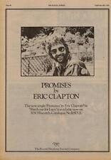 Eric Clapton Promises UK '45 Advert 1978