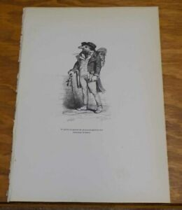 c1840 Print/Comical Animals in Human Situations/I LEFT AS A PUBLIC PROSECUTOR