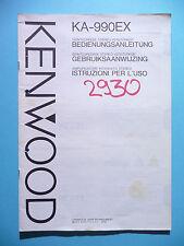 Bedienungsanleitung für Kenwood KA-990EX ,ORIGINAL