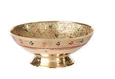 Decorated Brass Serving Bowls With Beautiful Nakshi Meenakari Engravings Work