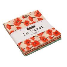 """Le Pavot by Moda 5"""" charm pack squares 100% cotton fabric quilt 42 piece"""