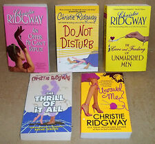 5 PAPERBACK BOOKS BY CHRISTIE RIDGWAY AN OFFER HE CAN'T REFUSE DO NOT DISTURB
