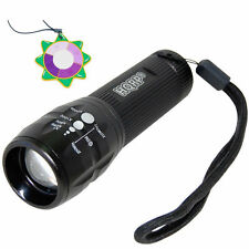 HQRP LED Ultra Violet Blacklight UV 3W Torch Light Adjustable Focus Zoom