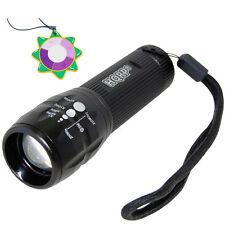 HQRP LED Ultra Violet Blacklight UV 3W Torch Light Adjustable Focus Zoom