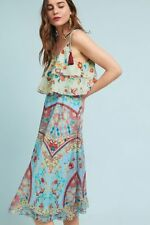 NWT Anthropologie Eros Tasseled Kerchief Midi Dress By Hemant & Nandita X-Large