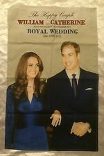 William and Catherine Engagement/Royal Wedding Cloth Banner Large Tea Towel
