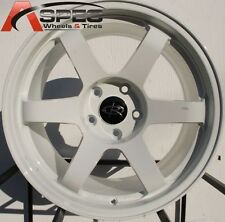 17X9.0 ROTA GRID WHEELS 5X100 RIMS 30MM WHITE (SET OF 4)