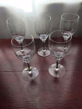 Bohemia Belfor, Exquisite, Black Core Stem, Crystal Sherry Glass x 5