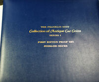 1969 The Franklin Mint Collection of Antique Car Coins Series 2 Sterling Proof