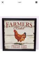 "Tin Sign ""Fresh Eggs� Farm Dairy Cows Kitchen Vintage Mancave Farmer Rooster Buy"
