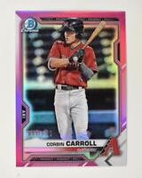 2021 Bowman Prospects Chrome Fusica #BCP-142 Corbin Carroll /199