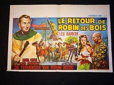 LE RETOUR DE ROBIN DES BOIS ! lex barker  affiche cinema 1960
