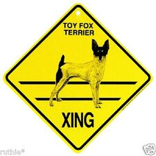 Toy Fox Terrier Dog Crossing Xing Sign New