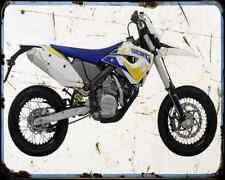 Husaberg Fs 570 Supermoto 10 1 A4 Metal Sign Motorbike Vintage Aged