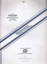 Showgard Large Stamp Mounts 192/201 For US Classics Mini Sheets Black 5 Pack