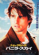 Vanilla Sky 2001 Tom Cruise Japanese Chirashi Mini Movie Poster B5