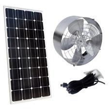 65W Attic Mount Roof Vent Fan 3000CFM  + 100W 12V Mono Solar Panel MC4 Connector