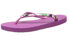 NEW Sanuk Women's Shimmy Rubber Strap Cushioned Flip-Flop Berry Size 8