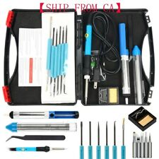 110V 60W Adjustable Electric Temperature Soldering Welding Iron Gun Tool Kit NEW