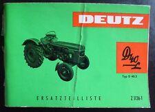 Deutz Schlepper D40.2 Ersatzteilliste