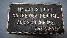 "Boating & Marine Plaque Signage - ""My Job"""