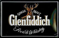 Glenfiddich Whisky logo embossed steel sign      300mm x 200mm (hi)