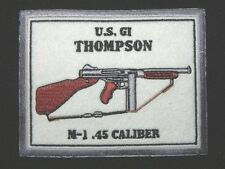 THOMPSON M1 A1 US GI WW II LARGE PATCH 5 INCH  FREE SHIPPING
