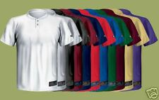 EastonA164143 Skinz Adult 2Button Placket Jersey MD GRN