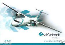 Airline Issue Postcard Air Dolomiti ATR 72 Lufthansa Regional Partner unused