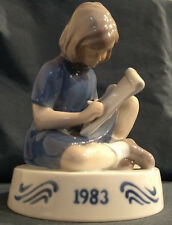 "Bing & Grondahl Figurine of the Year  ""The Small Artist"" 1983 - Rare COA & Box"