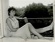 Françoise Prévost Vintage silver print Tirage argentique  18x24  Circa 196