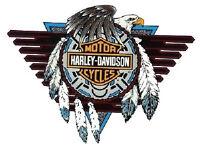Aufkleber Harley Davidson Concho Fenster Windshield 20x15cm Window Decal Innen