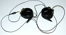Black Sony MDR-Q68LW Clip-On Retractable Cable Headphones