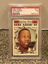 1961 Topps #577 - HANK AARON All Star - PSA 7 NM - National League * CENTERED *