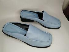 Blue Leather Mules UK 7.5