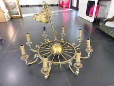 Luminaires PETITOT Lustre Suspension bronze style Directoire Empire Cariatides