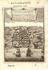 SANTO DOMINGO. Fine city view/map. Dominican Republic. Hispaniola. MALLET 1683