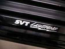 (2pcs) SVT LIGHTNING doorstep badge decal F150