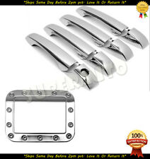 For 2005-2010 Chrysler 300/300C Chrome 4DR Handle Covers+STEEL Fuel Door Cover