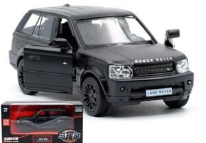 1:36 BLACK Land Rover Range Rover SUV 4x4 Car Vehicle Model Pull Back Diecast